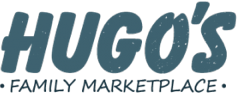 A theme logo of Hugo's Family Marketplace